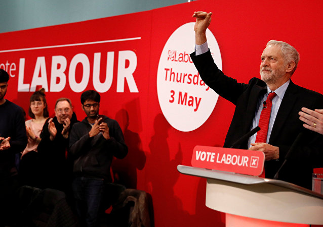 The leader of Britain's opposition Labour Party, Jeremy Corbyn, delivers a speech at the official launch of Labour's local election campaign in Manchester, Britain, March 22, 2018