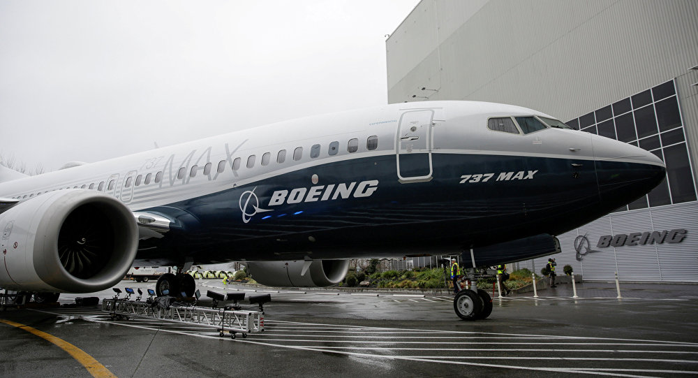 The first Boeing 737 MAX 7 is unveiled in Renton, Washington, U.S. February 5, 2018