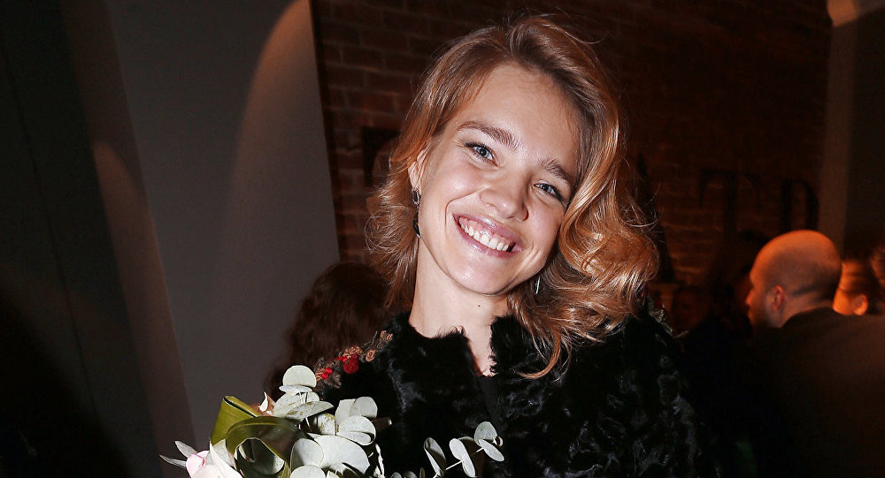 Model Natalia Vodyanova, the winner of the GLAMOUR Woman of the Year 2012 Award, is seen at the Award ceremony in the Theater of Nations