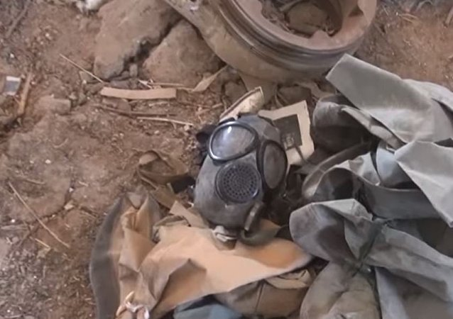 Gas Mask found at Chemical Lab in Eastern Ghouta