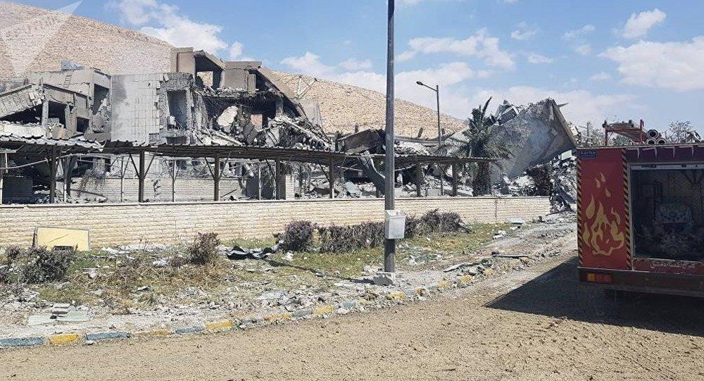 2018年4月14日、ダマスカス近くのBarzah科学研究センターへの攻撃の余波