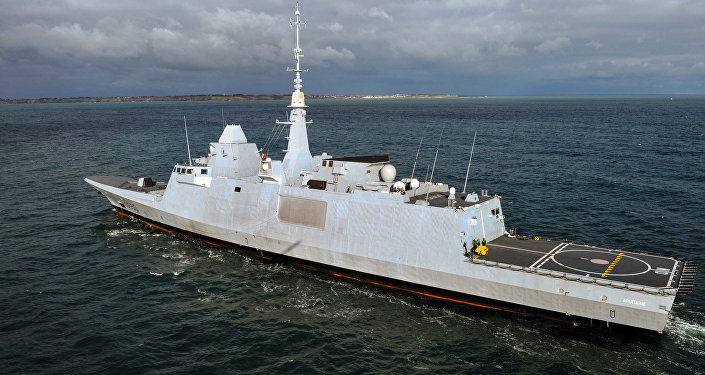 French FREMM multipurpose Aquitaine class stealth frigate (File)