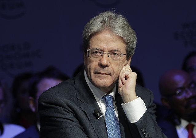 Italian Prime Minister Paolo Gentiloni (File)