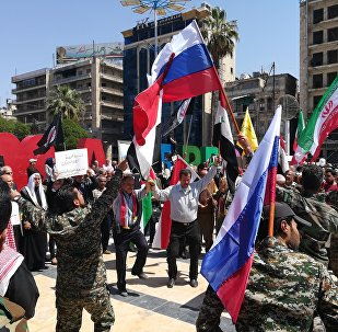 Hundreds of Syrians are demonstrating in the Syrian capital Damascus
