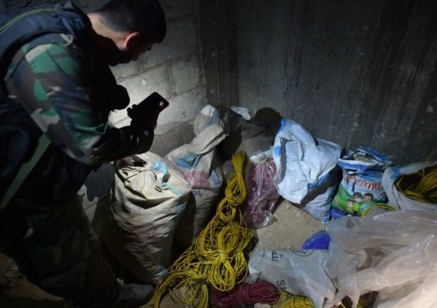 Militants' chemical weapons lab in Douma