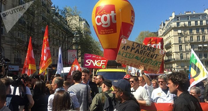Demonstration against the French government's reform plans in Paris