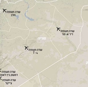 Map of Alleged Tehran-Controlled Airbases in Syria provided to Israeli media April 17