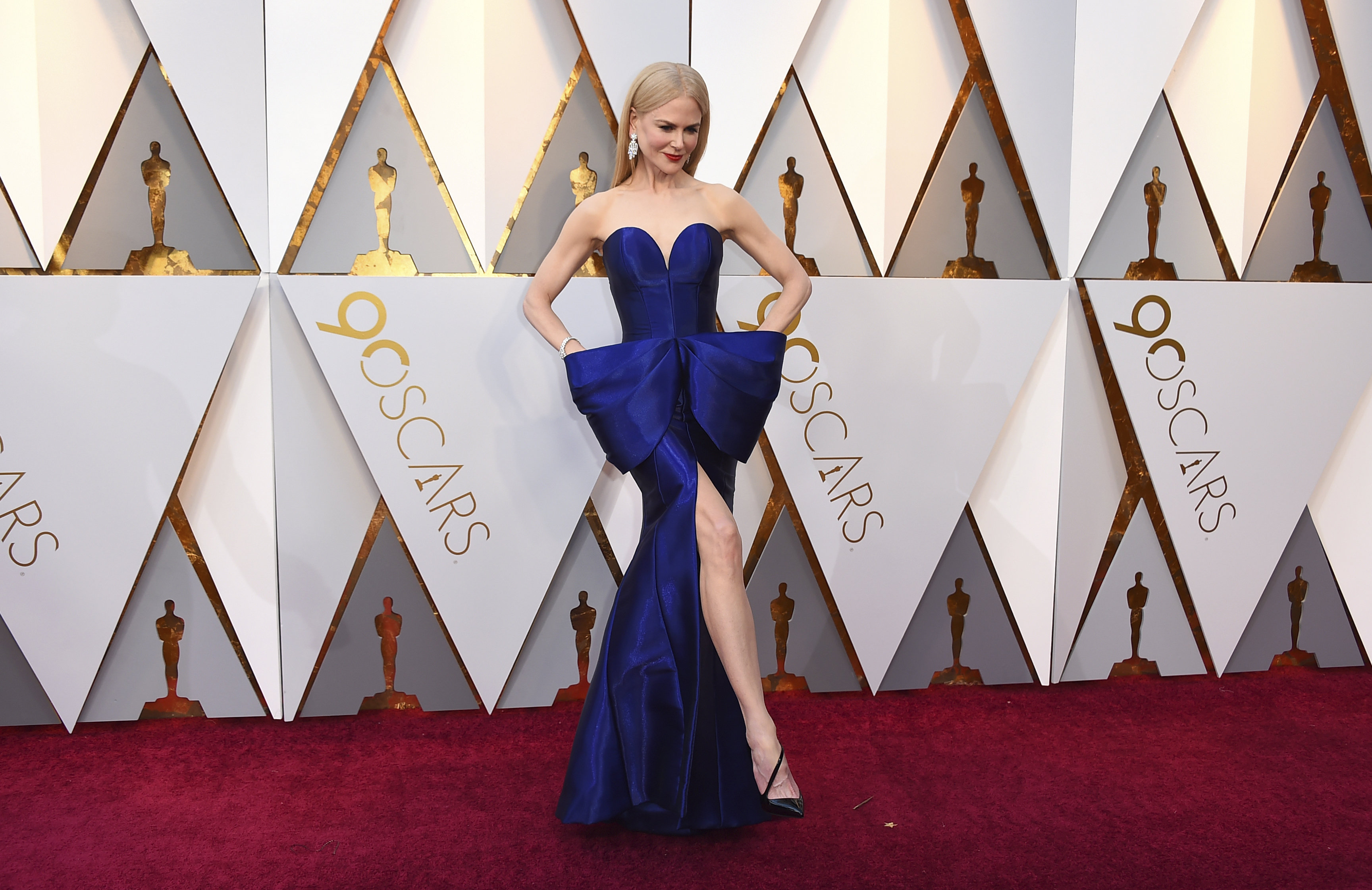 Nicole Kidman arrives at the Oscars on Sunday, March 4, 2018, at the Dolby Theatre in Los Angeles