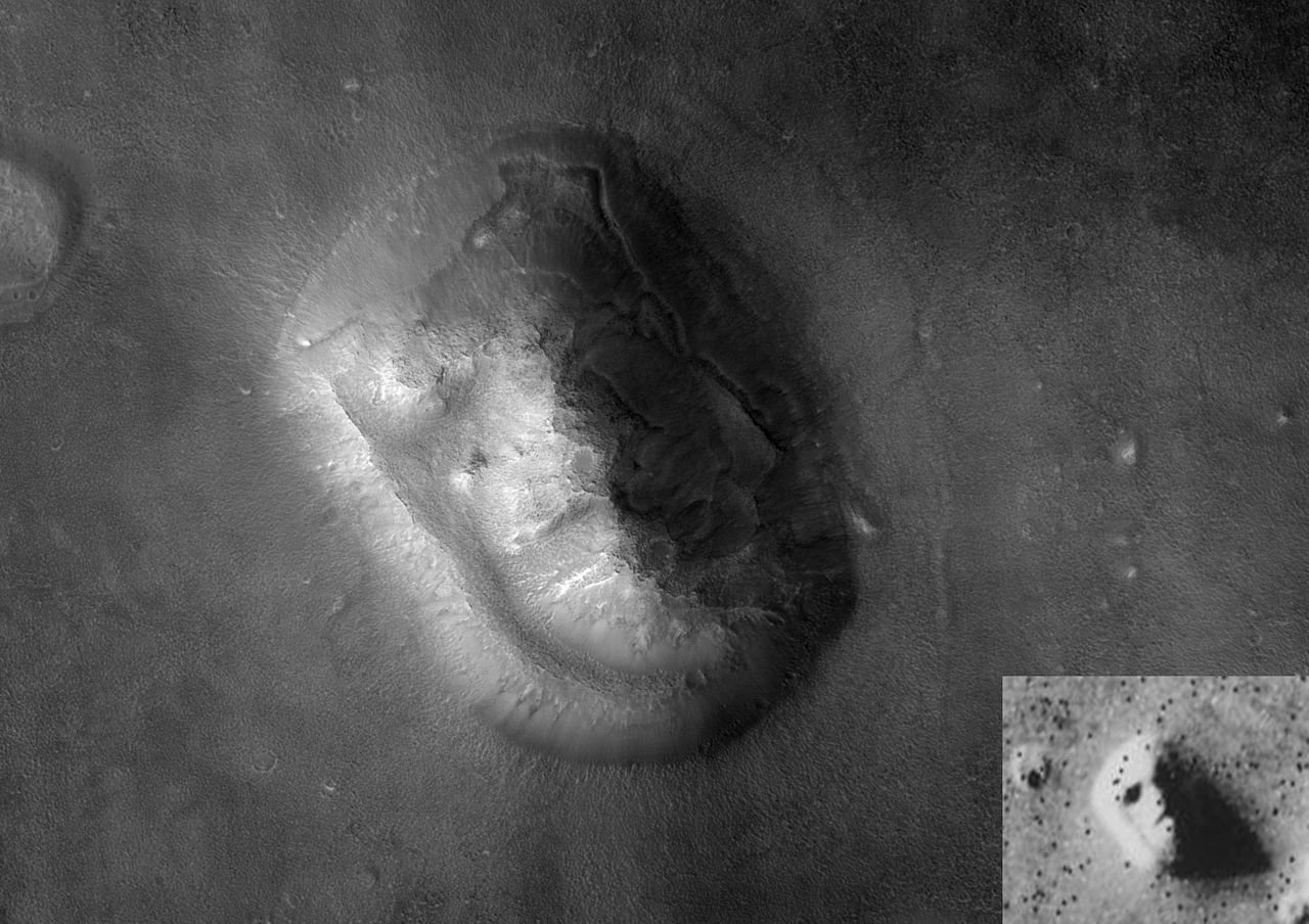 Face on Mars with Inset
