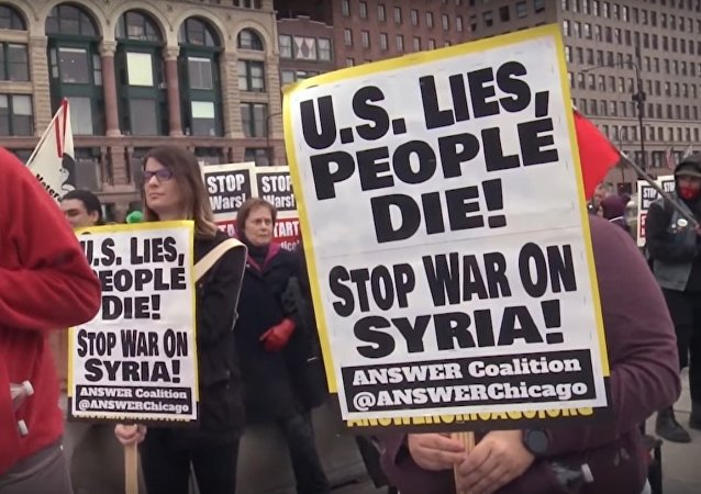 US: Chicago Residents Protest Against US-Led Coalition Strikes in Syria
