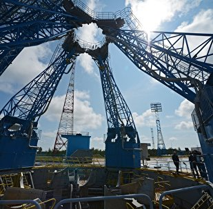 The launch pad at the Vostochny Space Center
