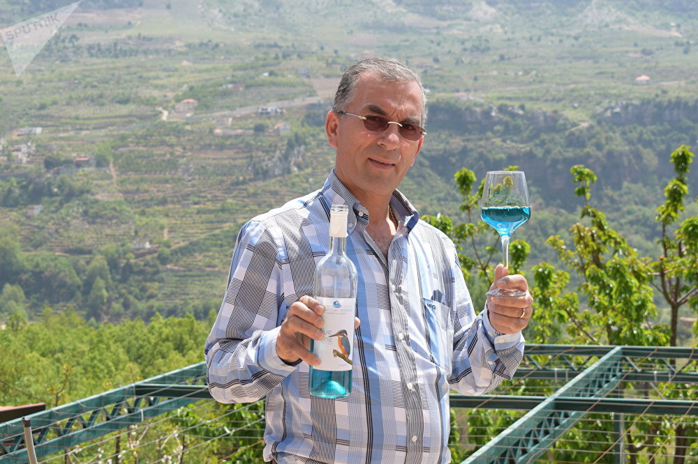 Blue wine from Lebanon