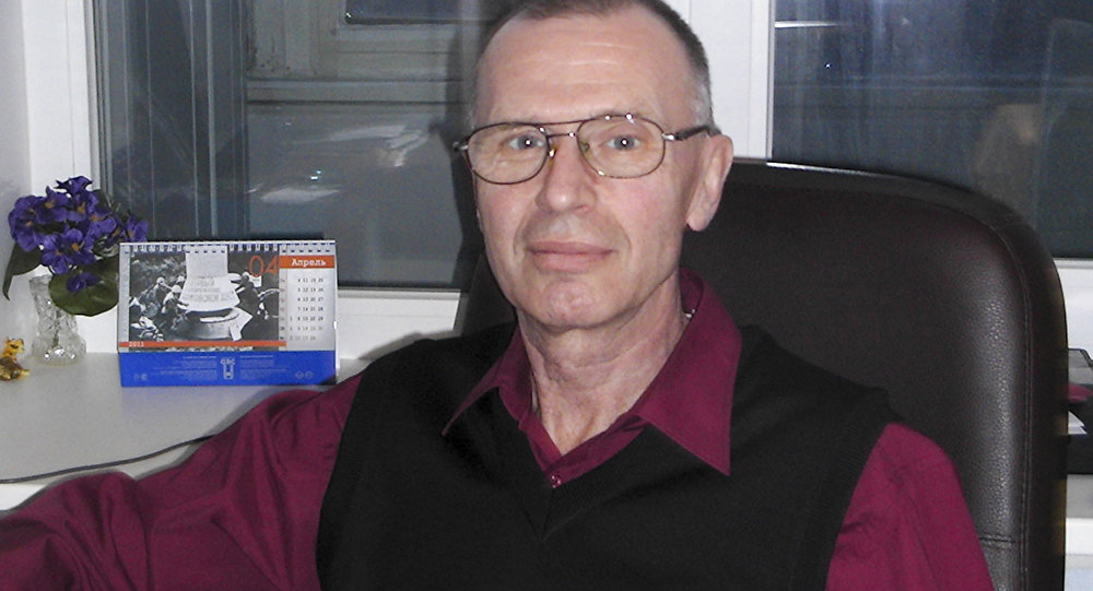 In this handout photo taken on May, 2011 by Russian chemical experts Vladimir Uglev poses for a photograph at an undisclosed location