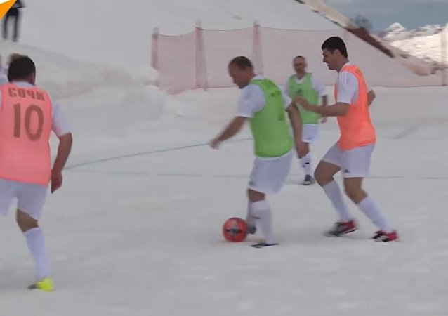 Football Match 6,500 Feet Above Sea Level in Russia's Sochi