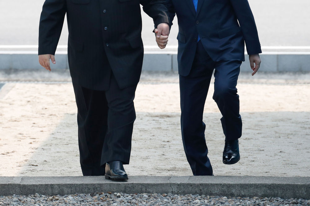 North Korea's Leader Kim Jong-un Meets South Korea's President Moon Jae-in