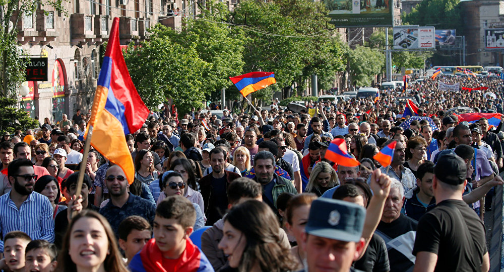Ruling party 'will not block' protest leader as Armenian PM