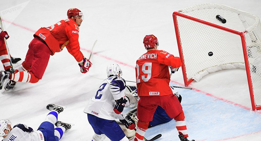Ice Hockey World Championship. Russia vs. France