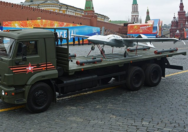 Korsar drones at the final rehearsal of the military parade on Red Square, devoted to the 73rd anniversary of Victory in the Great Patriotic War
