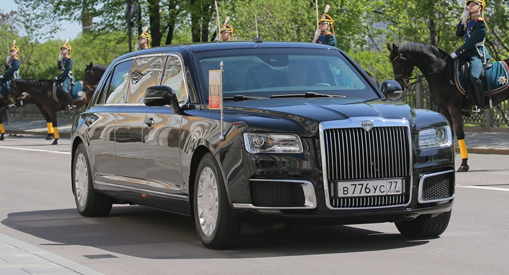 Aurus Limousine Of The President Russian Federation Motorcade Part Cortege Project