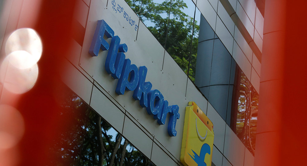 The logo of India's e-commerce firm Flipkart is seen on the company's office in Bengaluru, India April 12, 2018