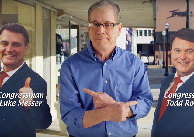 Screen grab from a Mike Braun campaign ad