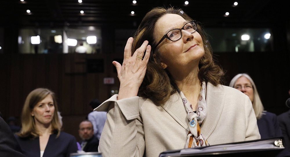 Acting CIA Director Gina Haspel prepares to testify at her Senate Intelligence Committee confirmation hearing on Capitol Hill in Washington, U.S., May 9, 2018