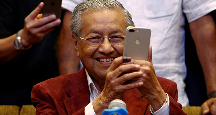 Mahathir Mohamad, former Malaysian prime minister and opposition candidate for Pakatan Harapan (Alliance of Hope) attends a news conference after general election, in Petaling Jaya, Malaysia, May 10, 2018