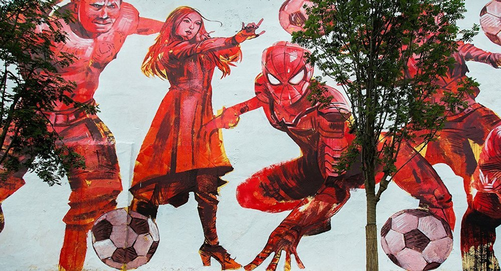 Graffiti devoted to the FIFA World Cup — 2018