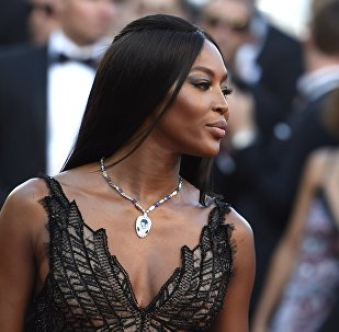 British supermodel and actress Naomi Campbell at the 70th anniversary of the Cannes Film Festival. File photo