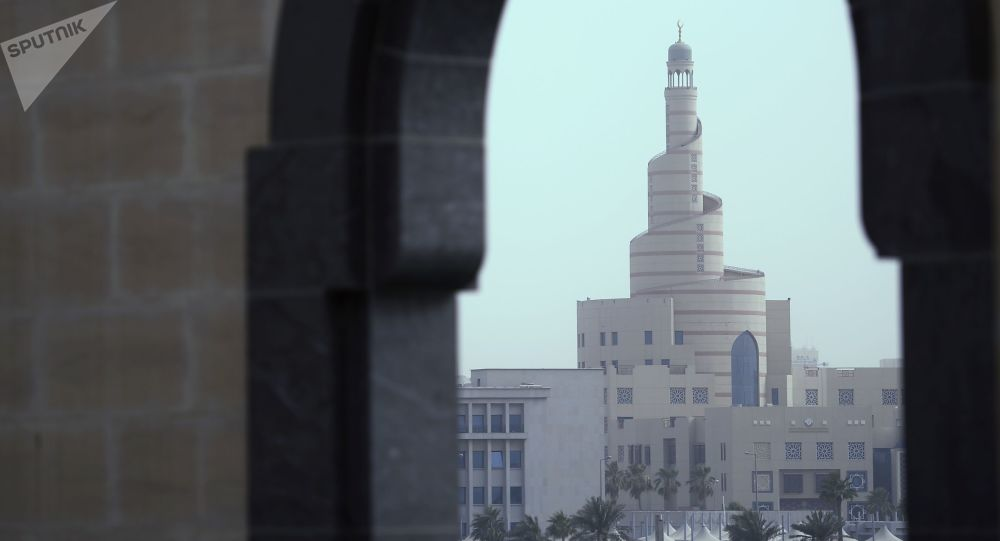 View of the Islamic Cultural Center Fanar in Doha