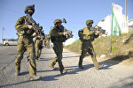 IDF soldiers in the Hebron area (File)