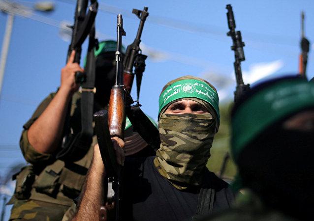 Hamas militants. (File)