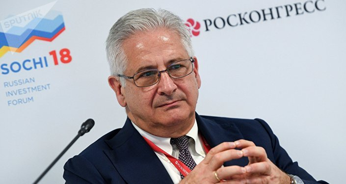 Alexis Rodzianko, President & CEO of AmCham Russia, during a session New economic structure of Russian regions: where are the sources of productivity at the Russian Investment Forum (RIF-2018) in Sochi