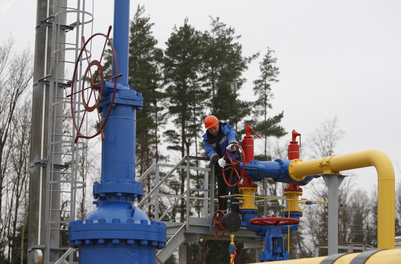 The ceremony of launching the JSC Gazprom's gas distribution station Zapadnaya opened after reconstruction near the village of Atolino (Minsk District). (File)