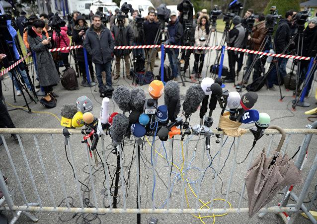 Пресс-конференция. Архивное фото