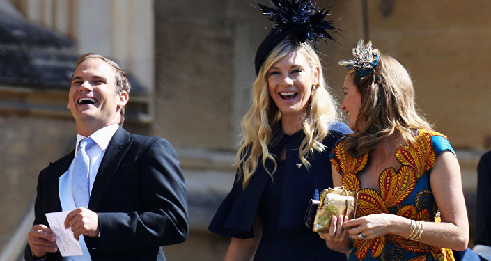 Chelsy Davy arrives at the wedding of Prince Harry to Ms Meghan Markle at St George's Chapel, Windsor Castle in Windsor, Britain, May 19, 2018