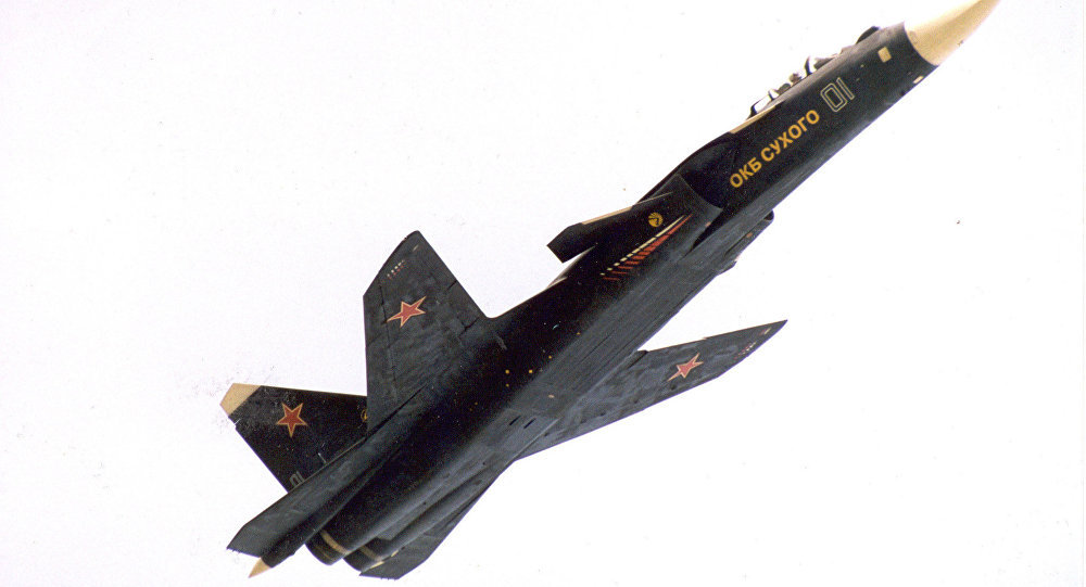 Su-47 (S-37) Berkut (Golden Eagle) sweepward fighter jet