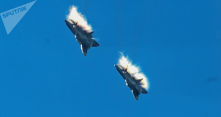 Su-57 fifth generation fighter jets. File photo