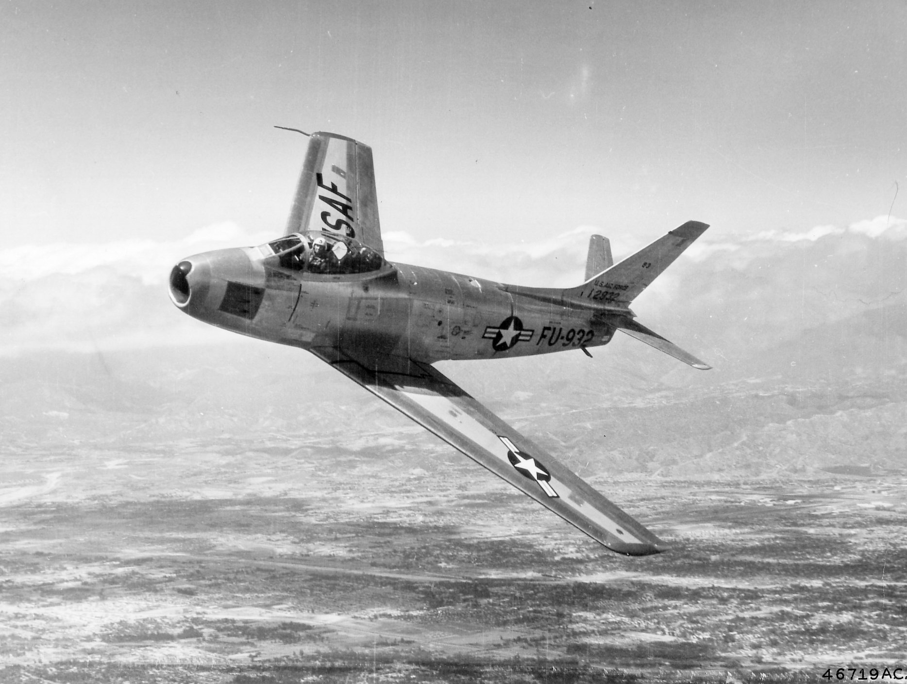 North American F-86F Sabre, 1953