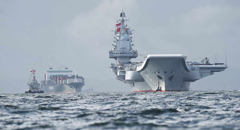 China's sole aircraft carrier the Liaoning, arrives in Hong Kong waters