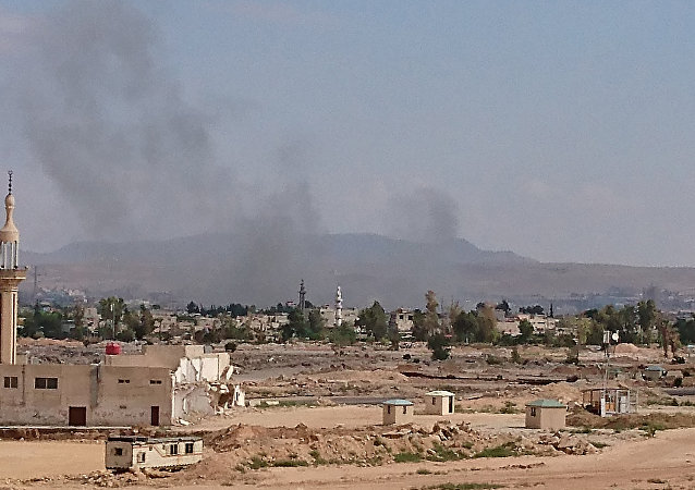 Blasts in the south of Damascus. File photo