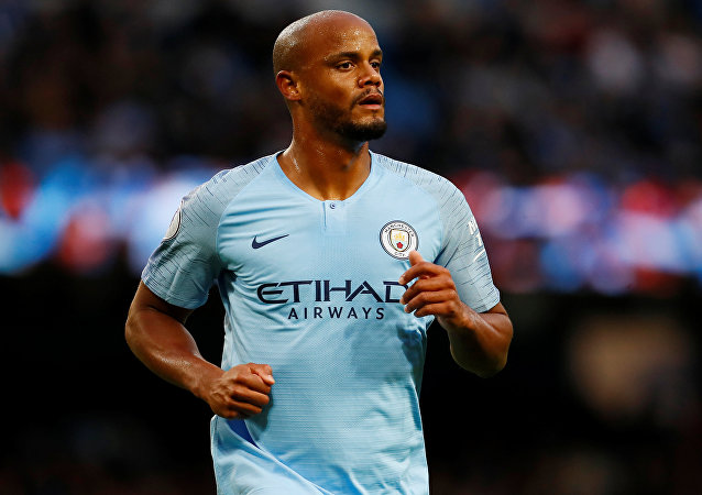 Soccer Football - Premier League - Manchester City v Brighton & Hove Albion - Etihad Stadium, Manchester, Britain - May 9, 2018 Manchester City's Vincent Kompany during the game Action Images