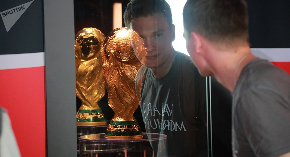FIFA cup on soccer was exposed in Moscow