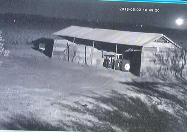 Surveillance footage captures moment asteroid 2018 LA explodes over Botswana