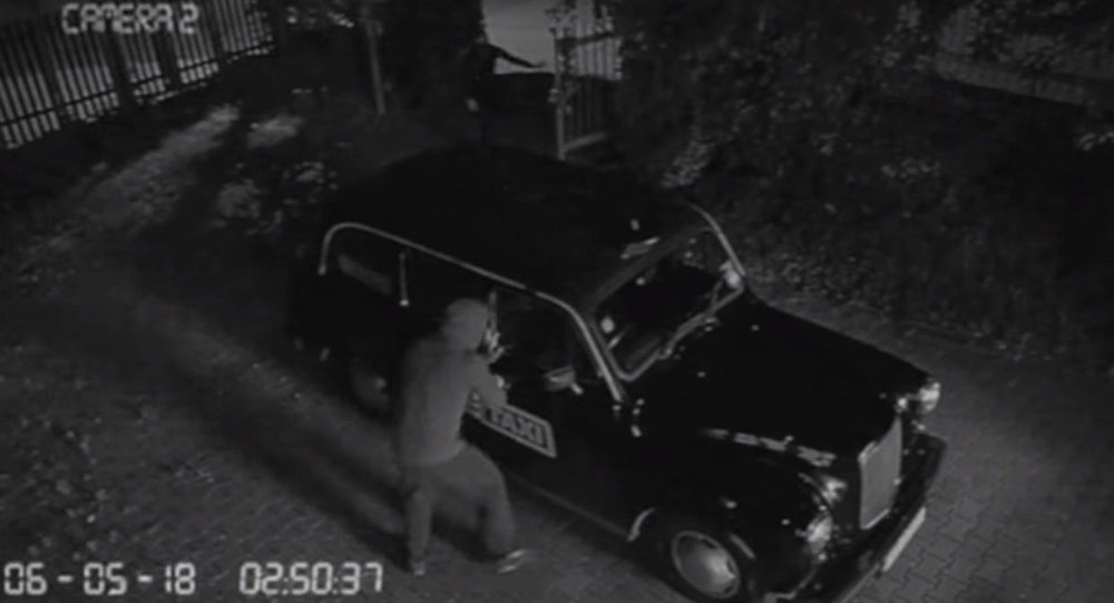FAKE TAXI VEHICLE STOLEN - Security Footage