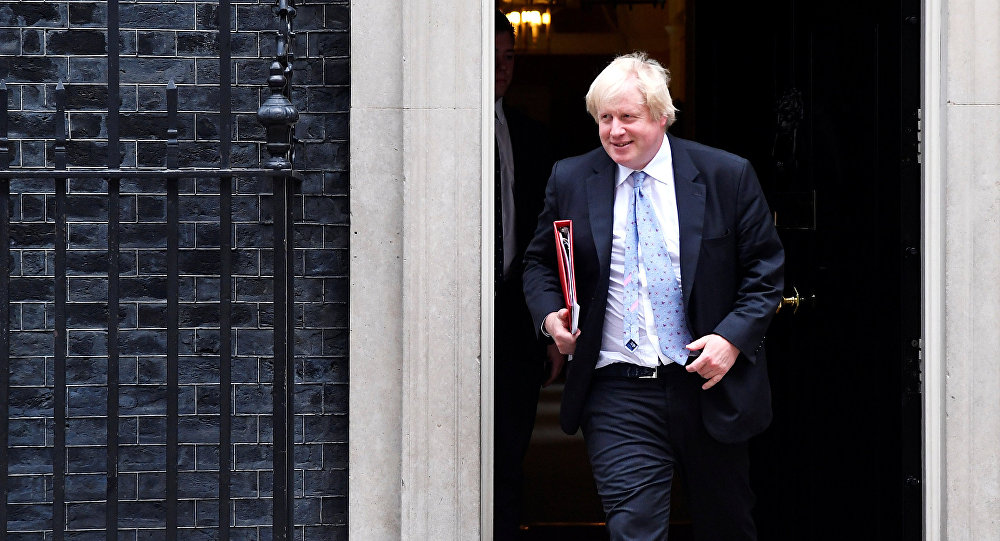 Britain's Foreign Secretary Boris Johnson leaves 10 Downing Street in London, June 7, 2018