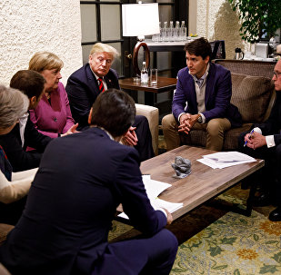 Canada's Prime Minister Justin Trudeau and G7 leaders hold meeting in Charlevoix