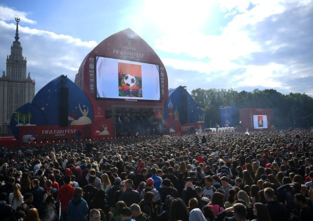 The FIFA Fan Fest has opened in Moscow on Sunday.