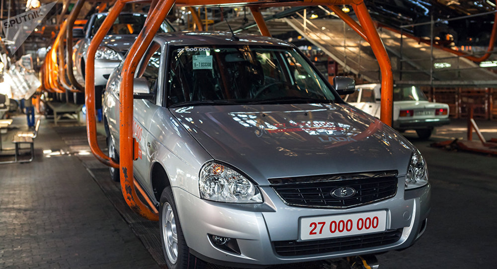 Lada Priora car on the assembly line at OJSC AvtoVAZ factory in Togliatti. File photo