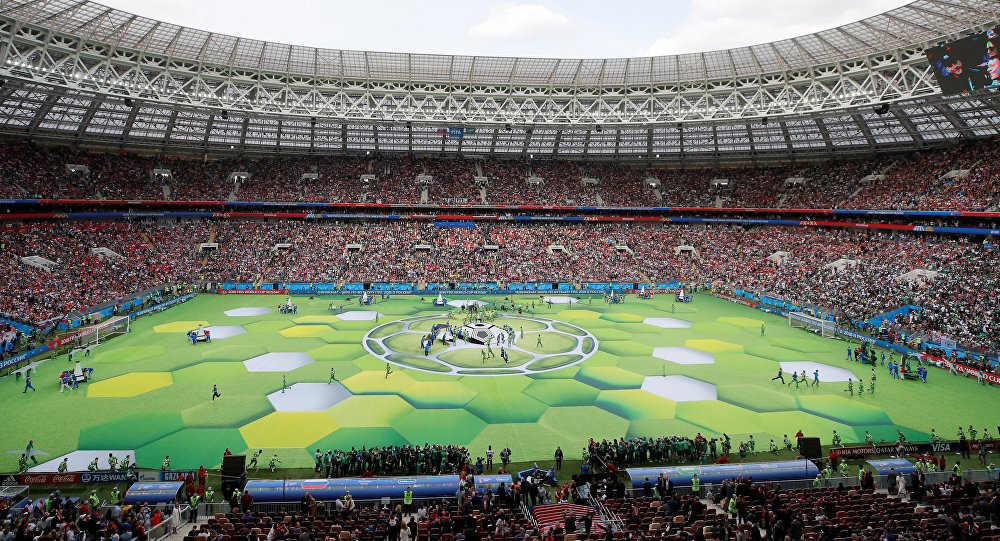 Soccer Football - World Cup - Opening Ceremony - Luzhniki Stadium, Moscow, Russia - June 14, 2018 General view before the opening